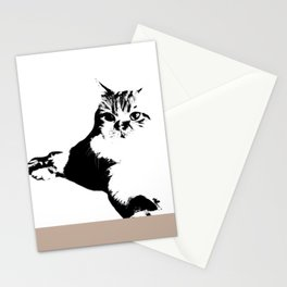 Black White Cat Stationery Cards