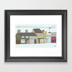 Sea rd. Galway city, Ireland. Framed Art Print