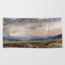 John Constable Hampstead Heath, with Pond and Bathers Beach Towel