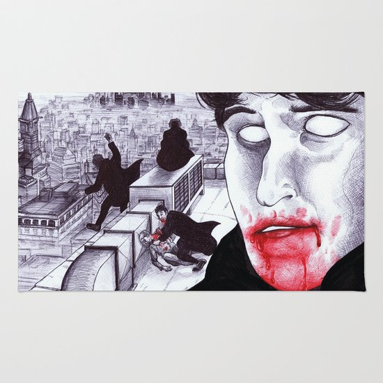 """Modern Vampires of the City"" by Cap Blackard Rug"