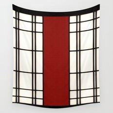 Shoji - red Wall Tapestry