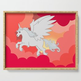 Alicorn at Sunset Serving Tray