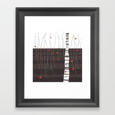The last of the leaves. Framed Art Print