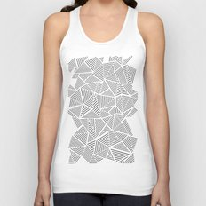 Abstraction Linear Inverted Unisex Tank Top