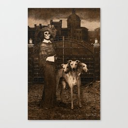 Dark Victorian Portraits: The Dog Walker Canvas Print
