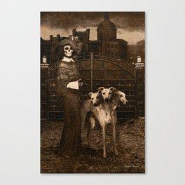 Dark Victorian Portraits: The Dog Walker Canvas Print