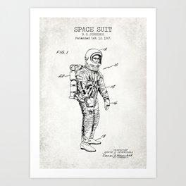Space Suit Old Canvas Art Print