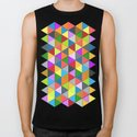 Colorful triangle galore geometric pattern by pldesign