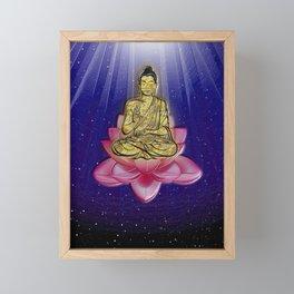 GOLDEN BUDDHA Framed Mini Art Print