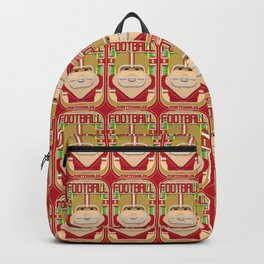 American Football Red and Gold - Enzone Puntfumbler - Josh version Backpack