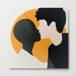 Kissing Flow Metal Print