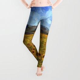 Vincent Van Gogh Sunflowers Leggings