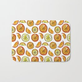 Illustrated Oranges and Limes Bath Mat