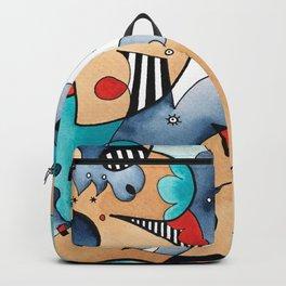 Abstrat High Tea Contrast Backpack