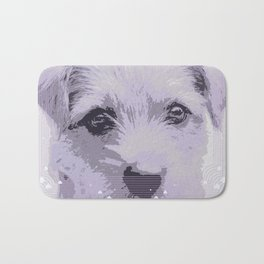 Curious little dog waiting for you - funny dog portrait Bath Mat