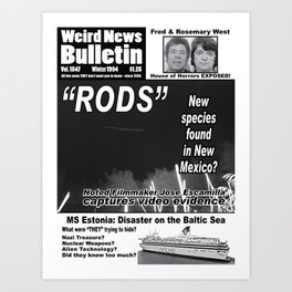 Weird News Bulletin Issue 1994 Art Print