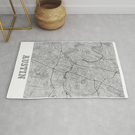 Austin Pencil City Map Rug