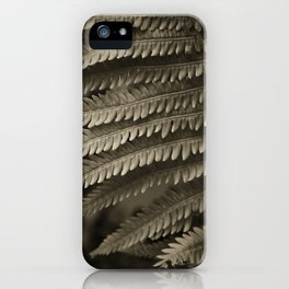 Copper-ized Ferns Fight for Sunshine iPhone Case
