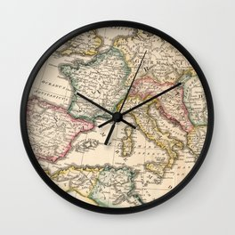 Vintage Map of The Roman Empire (1815) Wall Clock