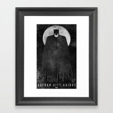 Gotham City Knight Framed Art Print
