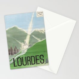 Affiche Travel Poster Lourdes French National Railway SNCF Stationery Cards