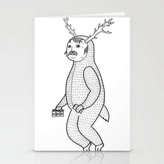 On the inconveniences of dressing up as an animal. Stationery Cards