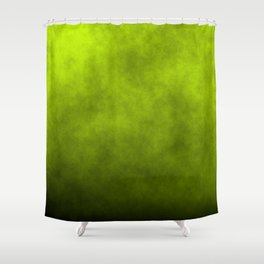 Slime Green Vaporized Neon Ectoplasm Fog Shower Curtain
