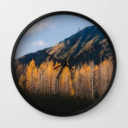 Autumn in Kenai Fjords National Park III Wall Clock