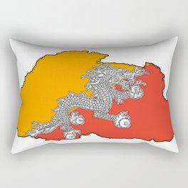 Bhutan Map with Flag Rectangular Pillow