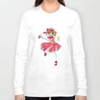 sakura Long Sleeve T-shirts featuring Sakura by clayscence