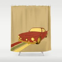 70s Shower Curtains featuring 70s by Maestral