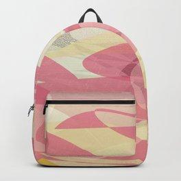 Pink Multi Layer Pattern Design Backpack