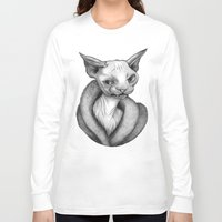 sphynx Long Sleeve T-shirts featuring Sphynx by Tim Van Den Eynde