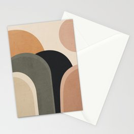 abstract minimal sunrise Stationery Cards