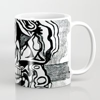 picasso Mugs featuring Basically Picasso by Marcela Caraballo
