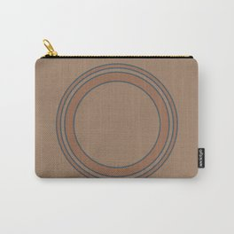 Circles | Brown Carry-All Pouch