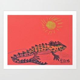 Crocodile Skink Art Print