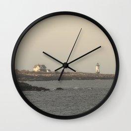 Hazy Straitsmouth lighthouse Wall Clock