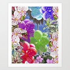 BALLOON LOVE:  Tropical Pop Art Print