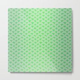 Green Mermaid Scales Metal Print
