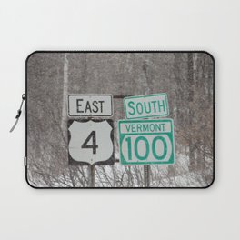 Vermont Street Signs Laptop Sleeve