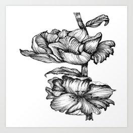 Floral Ink II Art Print