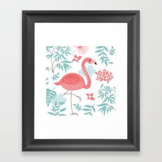Single Flaming Framed Art Print