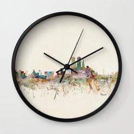 munich germany skyline Wall Clock