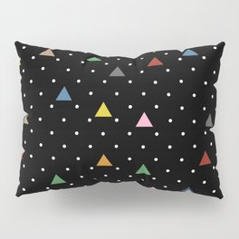 Pin Point Triangles Black Pillow Sham