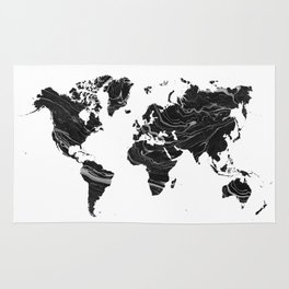 WORLD MAP • BLAC MARBLE Rug