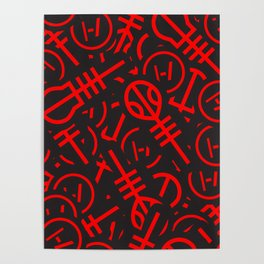 TØP Stickers - Red Poster