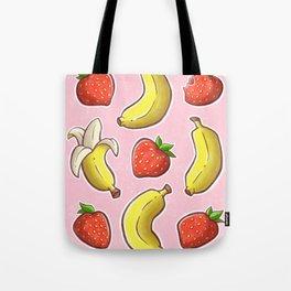 Strawberry and Banana Tote Bag