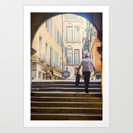 The Italian way Art Print