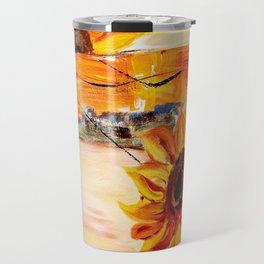 abstract sunflower Travel Mug
